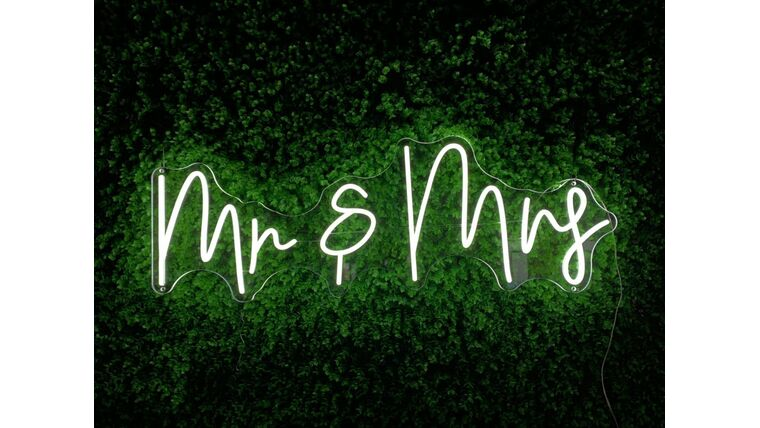 Picture of a Mr & Mrs. LED Sign