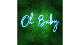Image of a Oh Baby Blue LED Sign