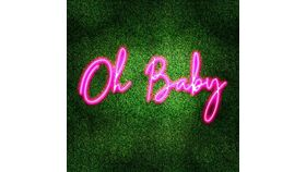 Image of a Oh Baby Pink LED Sign