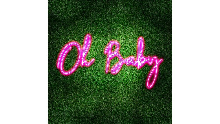 Picture of a Oh Baby Pink LED Sign