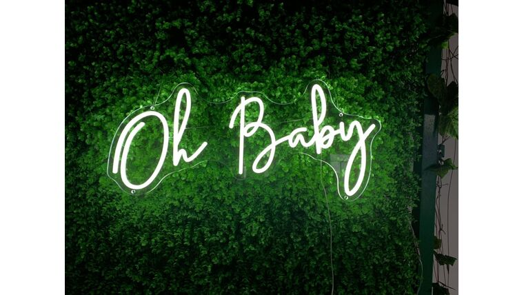 Picture of a Oh Baby LED Sign