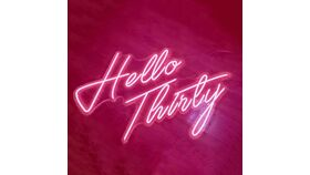 Image of a Hello Thirty Led Sign