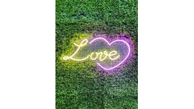 Image of a Love and Heart Led Sign