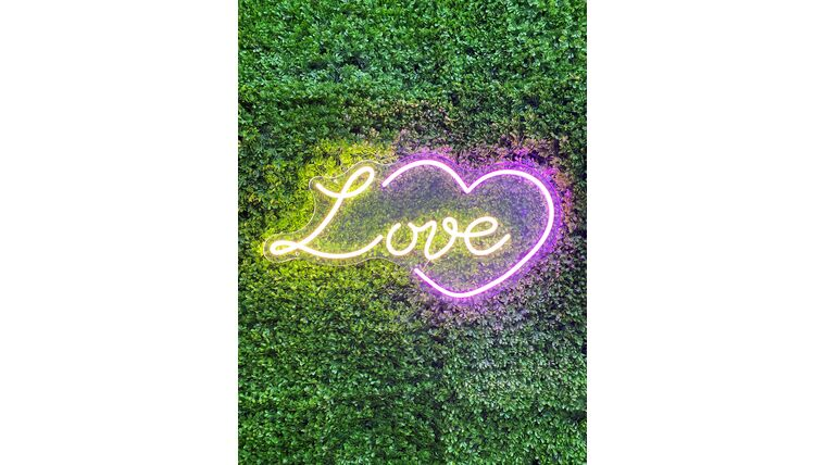 Picture of a Love and Heart Led Sign