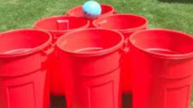 Image of a GIANT Yard Pong