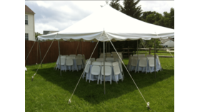 Image of a 20'x20' Pole Tent
