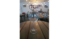 Image of a 12 oz  Wine glass ( red glass rack)