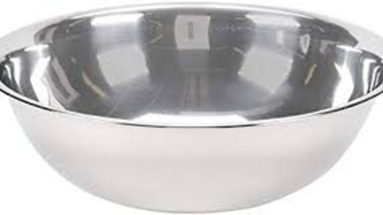 Picture of a 12 inch stainless mixing bowl