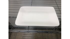 Image of a 10 x 7 white ceramic platter