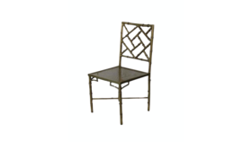 Image of a April- Brass Metal Dining Chair