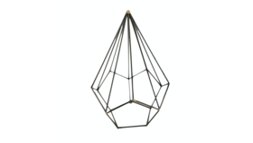 Image of a Agnes- Black Geometric Shape Large Diamond