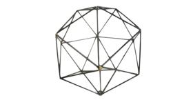 Image of a Agnes- Black Geometric Shape Large Round