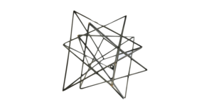 Image of a Agnes- Black Geometric Shape Large Abstract