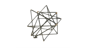 Image of a Agnes- Black Geometric Shape Small Abstractt
