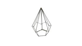 Image of a Agnes- Black Geometric Shape Small Diamond
