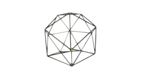 Image of a Agnes- Black Geomatric Shape Small Round