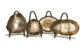 Image of a Agatha- Agate Table Numbers with Gold Stands