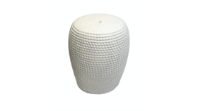 Image of a Avery - Bone Dotted Garden Stool