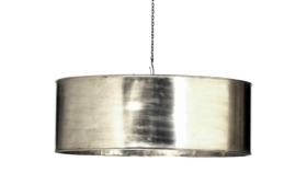 Image of a Gertrude - SIlver Metal Drum Light