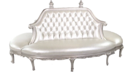 Image of a Ariel- Champagne Tufted Vintage Bench