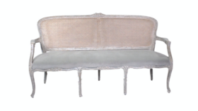 Image of a Belle - Grey Blue Cane Sofa