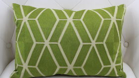 Image of a Abigail - Green Oblong Pillow