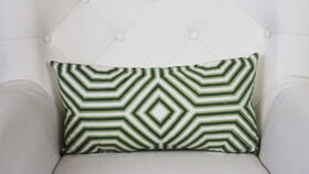 Image of a Adley - White Green Oblong Pillow