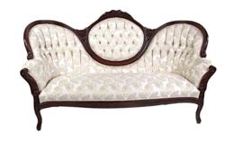 Image of a Georgia - White Gold Sofa