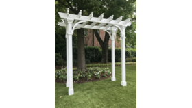 Image of a Willa- White Pergola