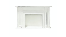 Image of a Sissy- White Fireplace