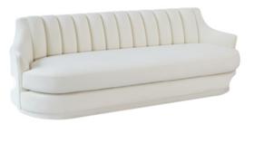 Image of a Peyton Cream Velvet Sofa