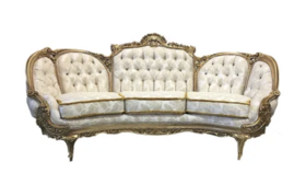 Image of a Aribella - White Gold Sofa