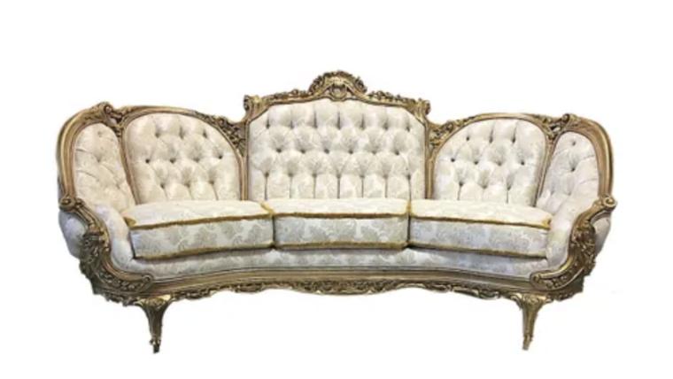 Picture of a Aribella - White Gold Sofa