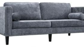 Image of a Prudence-Grey Velvet Sofa
