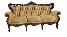 Image of a Virginia- Gold Velvet Sofa