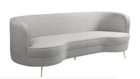 Image of a Miley- Cream Chenille Sofa