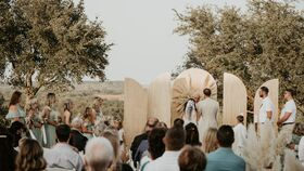 Image of a 5 Piece Ceremony Backdrop