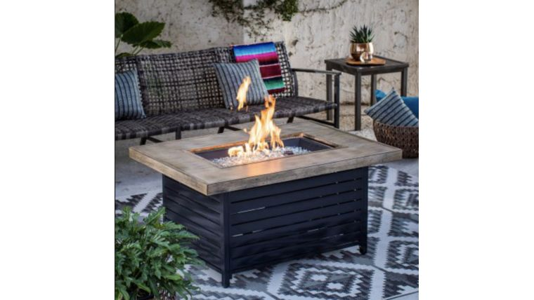 Picture of a Driftwood Coffee Table Fire Pit