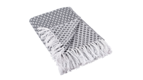 Image of a Black Mini Diamond Throw