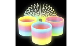 Image of a Glow-in-The-Dark Slinky