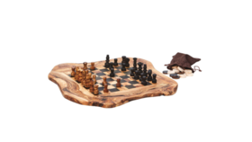 Image of a Real Olive Wood Chess Set