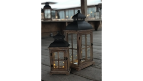 Image of a Barnwood Lantern (Large)