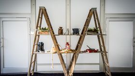 Image of a Vintage Ladder Display