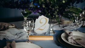 Image of a Acrylic Table Numbers - Grey and Gold