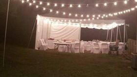 Image of a 40 x 80 Perimeter Tent Lighting