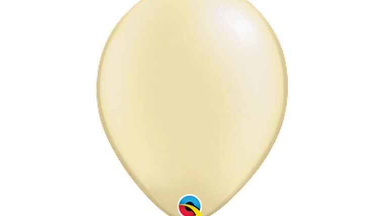 """Picture of a 11"""" Ivory Silk Helium Filled Latex Balloon"""