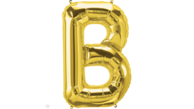 "Image of a 14"" Gold Letter B Jr. Megaloon Balloon"