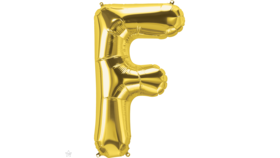 "Image of a 14"" Gold Letter F Jr. Megaloon Balloon"