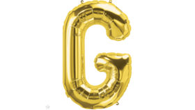 "Image of a 14"" Gold Letter G Jr. Megaloon Balloon"