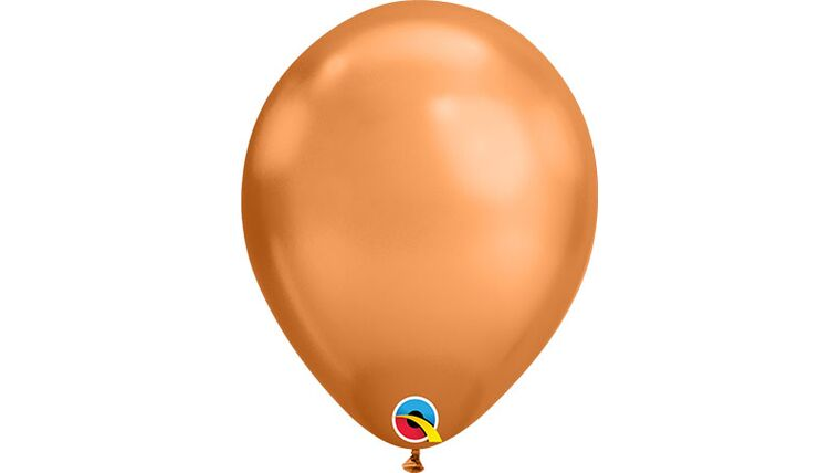 """Picture of a 11"""" Copper Chrome Latex Balloons"""